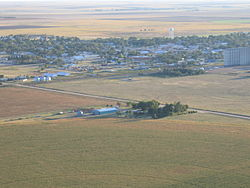 Aerial view of Leoti, in 2005