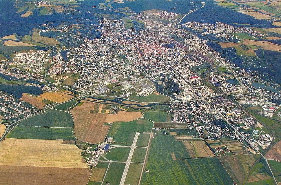 Letecká panoráma Košíc