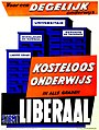 Liberale verkiezingsaffiche, 1958 - Campaign poster, Belgian Liberal Party, National elections 1958 (30199375373).jpg