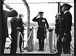 Lieutenant-Colonel Percy Muir McFarlane boarding USS ASTORIA (8180245136).jpg