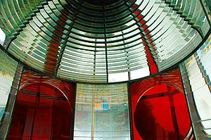 Cape Meares Light - Lens of the lighthouse in 2006