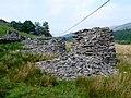 Line of slate Pillars at Blaen Nanmor - geograph.org.uk - 1421709.jpg