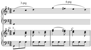 Linear progression - Image: Linear progression in Mozart Piano Sonata in G major