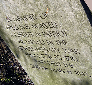 Lipscomb Norvell - Inscription on the box grave of Lt. Lipscomb Norvell, Old City Cemetery Nashville.