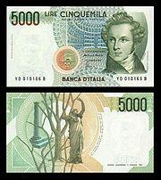 Lire 5000 Vincenzo Bellini Jpg