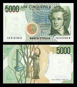 Lire 5000 (Vincenzo Bellini)