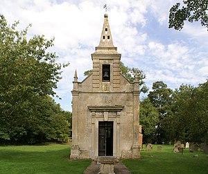 English: Little Gidding Church, near to Little...