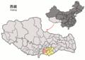 Location of Nagarzê within Xizang (China).png