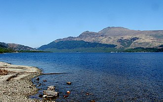 Ben Lomond - Ben Lomond looking north across Loch Lomond at the waterline