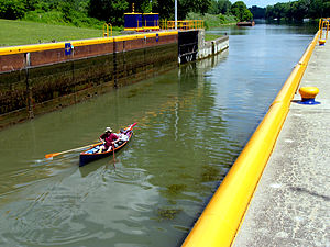 Cayuga–Seneca Canal - Lock on the Cayuga-Seneca Canal