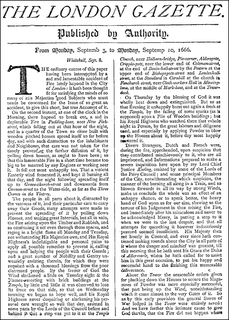 <i>The London Gazette</i> journal of record of the British government