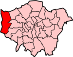 Hillingdon shown within Greater London