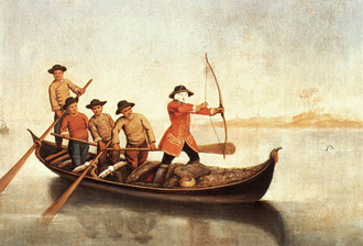 Waterfowl hunting - Pietro Longhi, Duck Hunters on the Lagoon - c. 1760