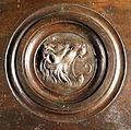 Lorenzo ghiberti e aiuti, porta nord del battistero di firenze, retro con teste leonine, 12.JPG