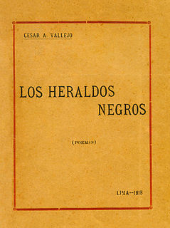 <i>Los heraldos negros</i> poetry anthology by César Vallejo