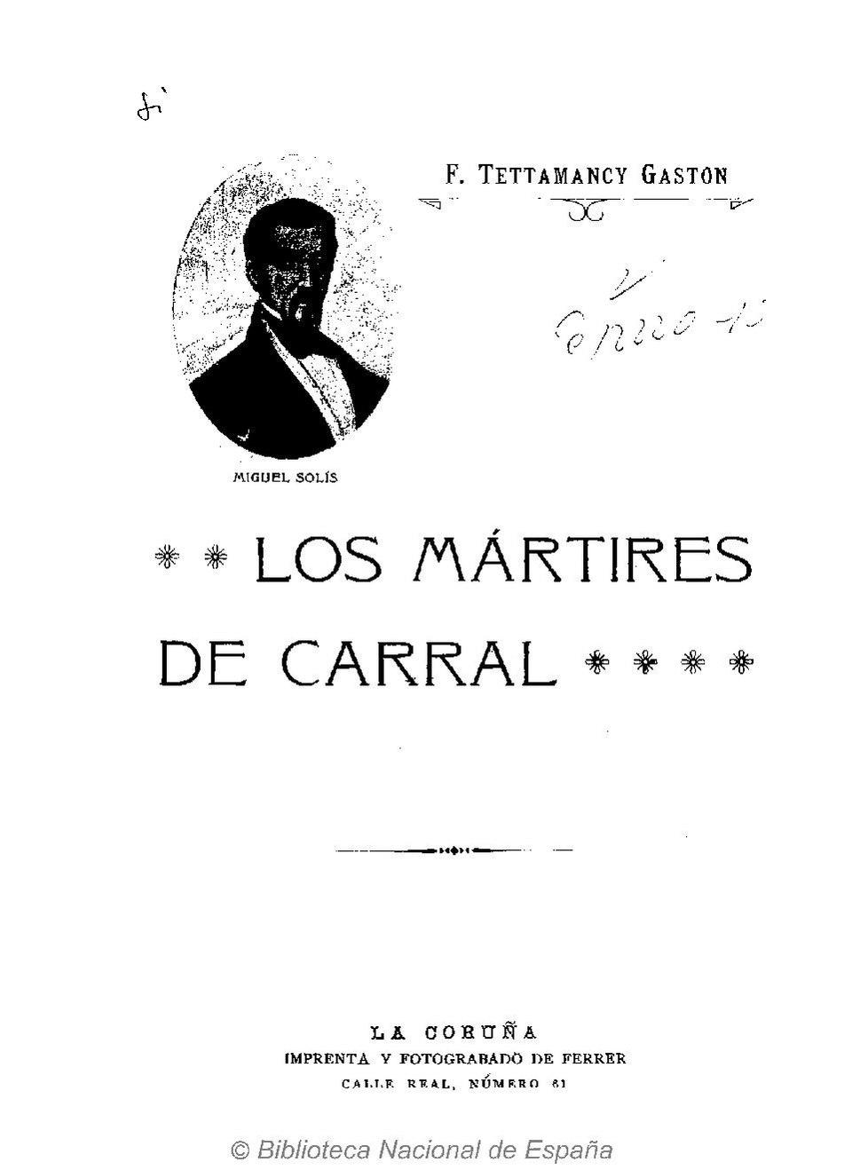 1912. Los mártires de Carral.