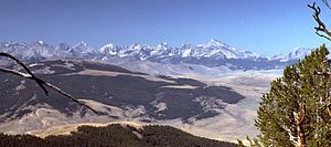 Lost River Range - Lost River Range, looking southwest from the Lemhi Range