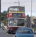 Lothian Buses bus 308 Leyland Olympian Alexander RH E308 MSG old Madder and White livery.jpg