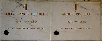Lou Costello - The crypts of Lou Costello and his wife Anne