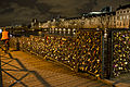 Love padlocks on the pont des Arts, Paris January 2014.jpg