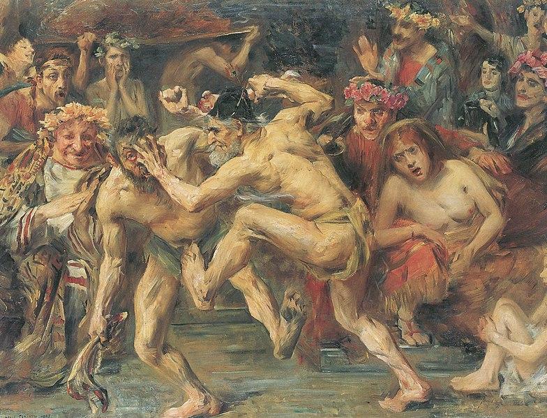 File:Lovis Corinth Odysseus im Kampf mit dem Bettler 1903.jpg