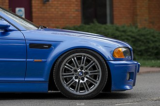 """Ride height - BMW E46 """"stanced"""" using aftermarket suspension kit"""