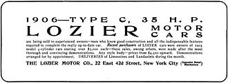 Lozier - The Lozier Motor Company of New York City – 1905