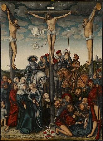 The Crucifixion (Cranach) - Image: Lucas Cranach d.Ä. Kreuzigung (1532, Indianapolis Museum of Art)