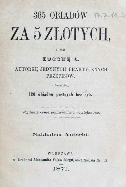 Plik:Lucyna Ćwierczakiewiczowa - 365 obiadów za 5 złotych.djvu