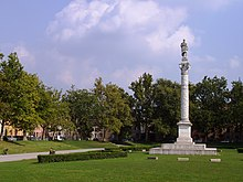 Memorial statue and park, Ferrara. (Source: Wikimedia)