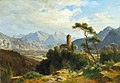 Ludwig Halauska - View of Castle Klamm in the Oberinntal with a view of the Sulstein.jpg