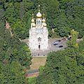 Luftbild Russisch-Orthodoxe Kirche der heiligen Elisabeth Wiesbaden Neroberg Griechische Kapelle IMG 0205.jpg