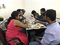 Lunch and discussion at West Bengal Wikimedians Strategy Meetup in Kolkata P 20170806 133633 DF 11.jpg
