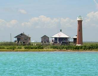 National Register of Historic Places listings in Aransas County, Texas - Image: Lydia Ann Lighthouse near Port Aransas