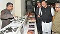 M.M. Pallam Raju going round an exhibition, at the inauguration of the newly constructed administrative cum academic block of the Lal Bahadur Shastri Rashtriya Sanskrit Vidyapeetha (1).jpg