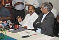 M. Veerappa Moily addressing a Press Conference on Continuation of MCA21 Project-e-Governance, Computerization and Networking of Ministry of Corporate Affairs and its Field Offices (MCA21 v2), in New Delhi.jpg