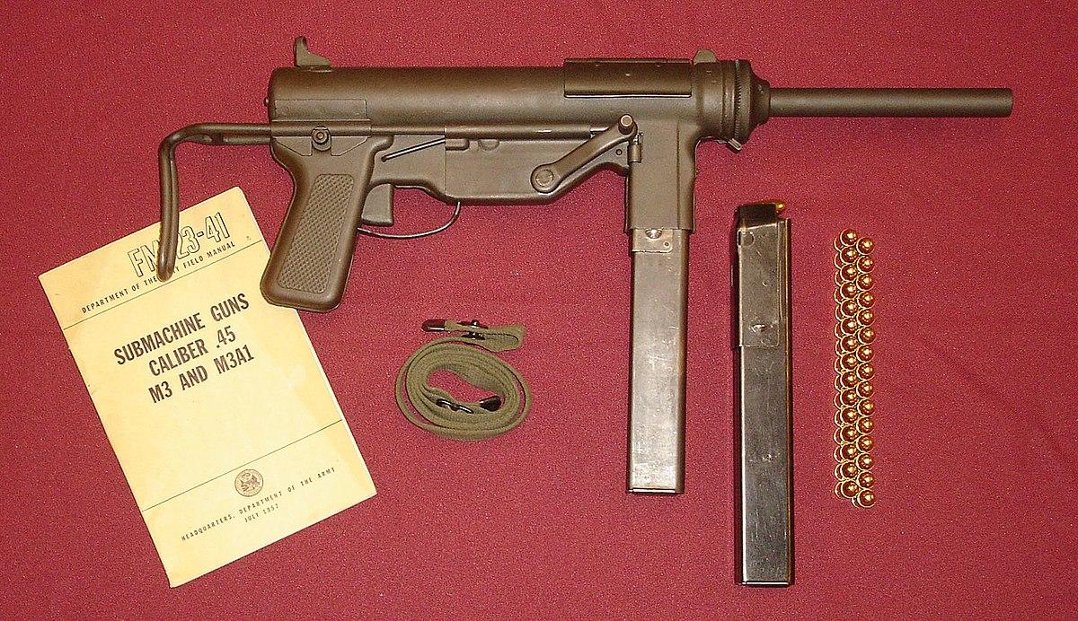 M3 Submachine Gun Wikipedia