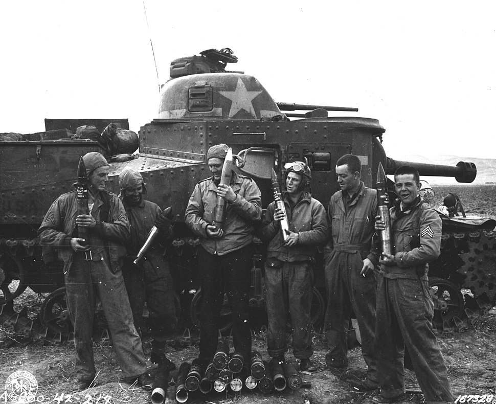 M3 Lee tank. D Co, 2nd BN, 13th Armored Regiment, 1st Armored Division in Tunisia