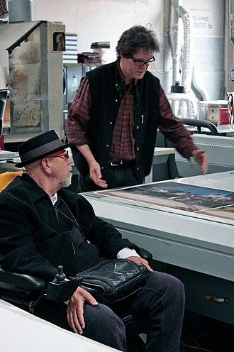 Chuck Close - Chuck Close, left, in 2010 with fellow artist Donald Farnsworth