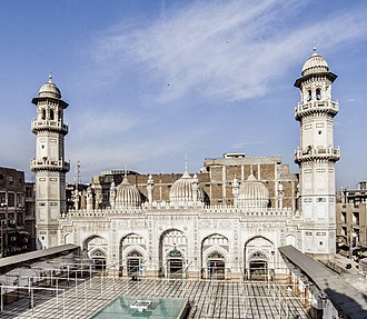 Mahabat Khan Mosque - The white marble façade of the mosque is one of the most iconic sights in Peshawar