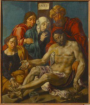 Lamentation of Christ (Heemskerck) - Image: Maarten van Heemskerck Lamentation
