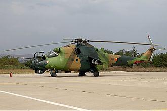 Army of the Republic of North Macedonia - Image: Macedonian Air Force Mil Mi 24V Lofting