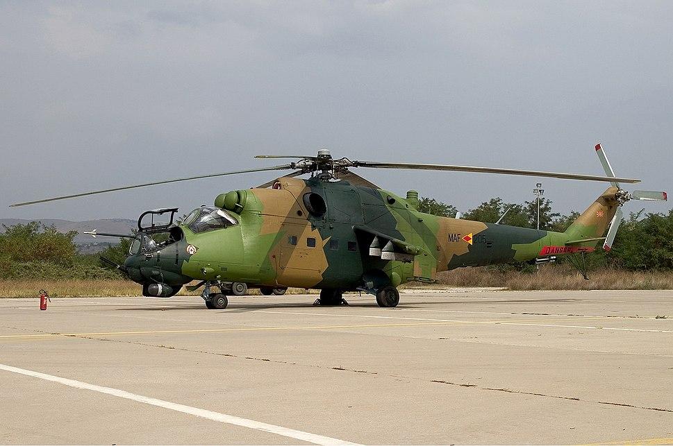 Macedonian Air Force Mil Mi-24V Lofting