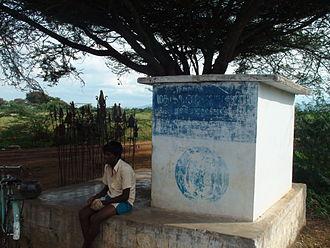 """Madukkarai Wall - Temple of the border guardian deity """"Madukkarai ellai Mahamuni"""""""
