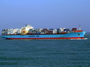 Maersk Mytilini p2 approaching Port of Rotterdam, Holland 01-Apr-2007.jpg