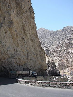 Mahi-Par Mountain Pass in eastern Afghanistan.