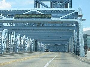 Main Street Bridge (Jacksonville) - Image: Main Street Bridge Jacksonville southbound truss