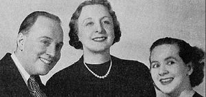 Dan Harding's Wife - The show's main cast in 1938 from left: Merrill Fugit, Isobel Randolph, Loretta Poynton