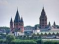 Mainz Cathedral, view from bridge - Mainz, Germany - panoramio.jpg
