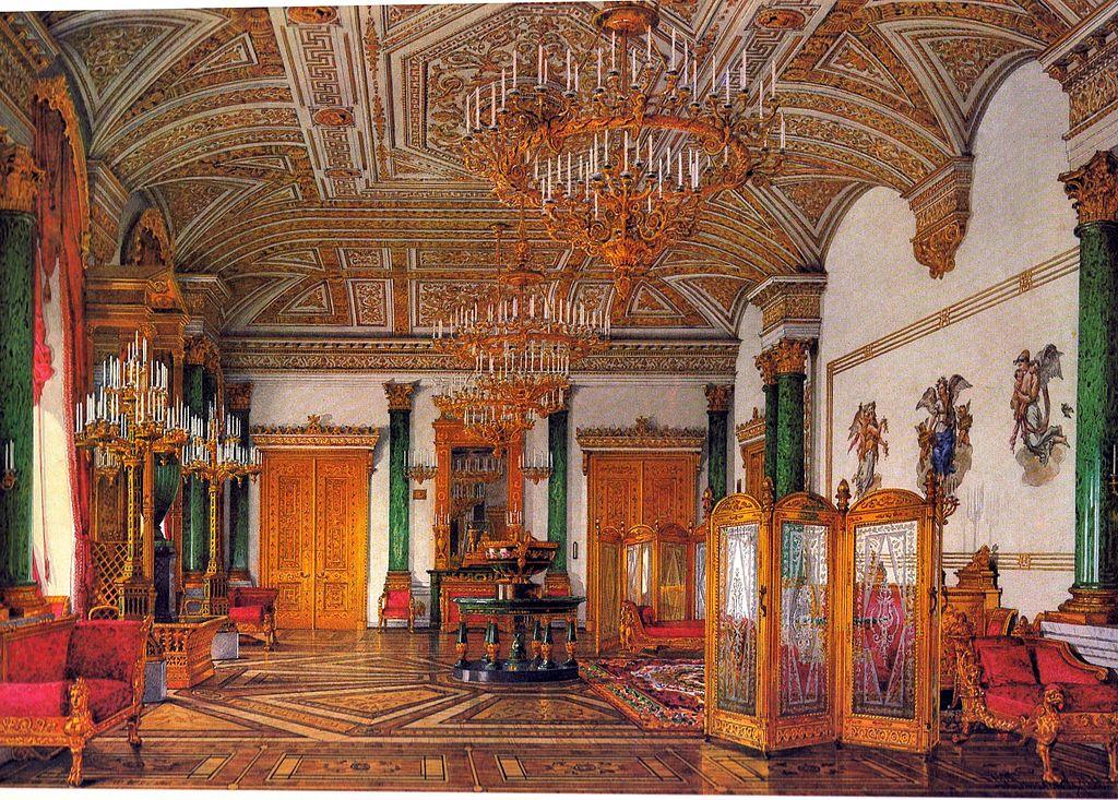 Hermitage Museum Winter Palace Malachite Room